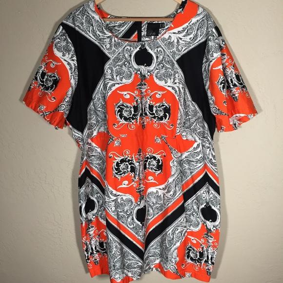 ASOS Curve Dresses & Skirts - ASOS Curve dress orange scarf print sz. 20